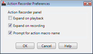 action recorder preference