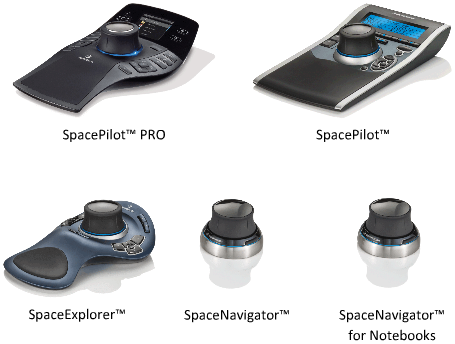 3d-muis van 3dconnexion gebruiken om door aanzichten te navigeren